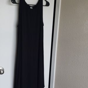 Black trapeze dress